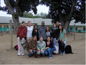 The whole group on the last day of Swahili class with our teachers Beatrice and Godson.