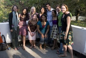 (Left to Right) Katie Hyde, Alia Kamal, Kaitlin Rogers, Minette Yao, Baldeep Pabla, Michelle Fang, Elena Rue, Lindsay Kunkle, Hillary Robbins, Ami Kabadi