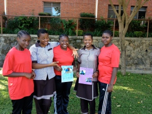 Form 5 students at St. Jude's Academy presenting their LTP work about Swahili proverbs